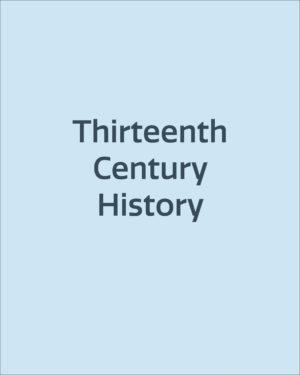 Thirteenth Century History